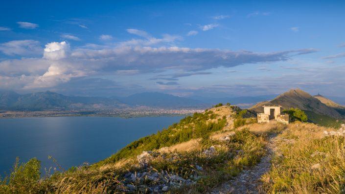 Mountain peaks on Montenegro and Albania border