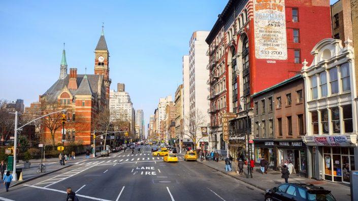 Strada in Greenwich Village, New York, USA