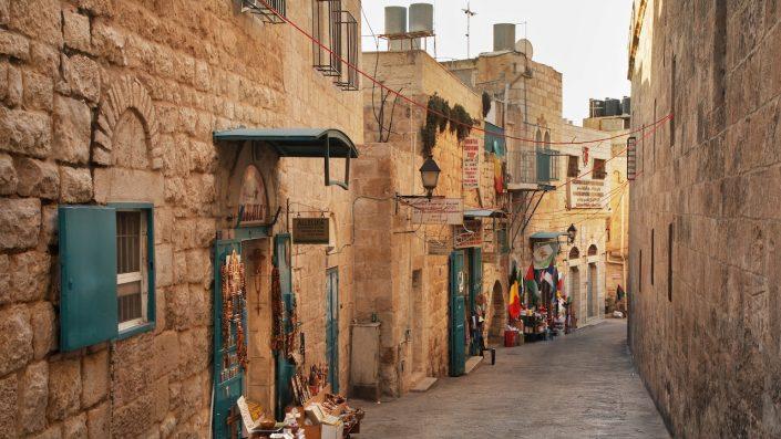 Strada veche din Betleem. Teritoriile palestiniene