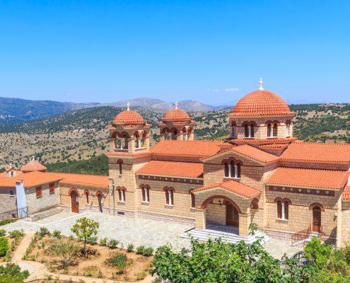 dreamstime xxl 60624025 manastirea Malevi Peloponez