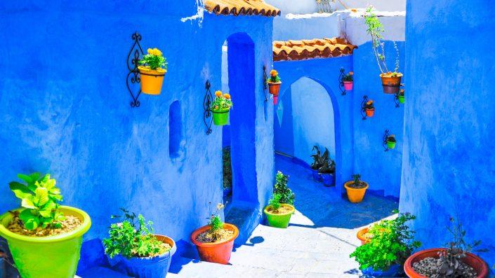Chefchaouen Chawen the Blue town Marocco