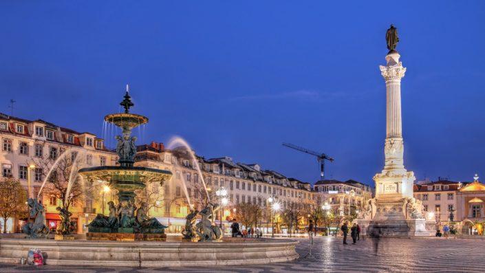 Rossio Square Lisabona vara